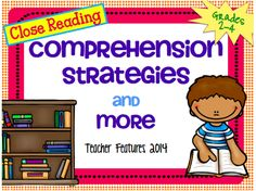 "Comprehension Strategies and More: 15 Comprehension Activities and 11 ""I Can"" Anchor Charts (36 pages)"