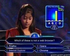 No one likes you internet explorer. No one