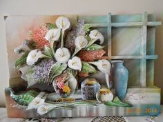 Decoupage, Clay, Embroidery, Paper, Crafts, Painting, Home Decor, Decorative Frames, Wire