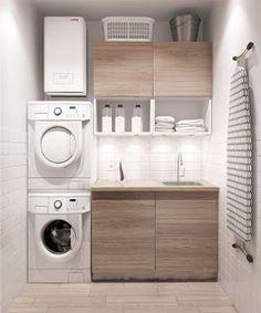 Si tienes poco espacio en casa, pero no quieres prescindir de tener una zona exclusivamente para la colada, ¡mira estas ideas!