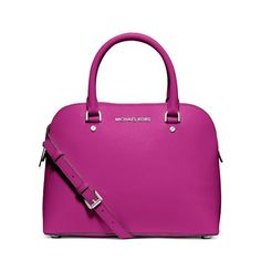 MICHAEL Michael Kors Cindy Medium Saffiano Leather Satchel Purple