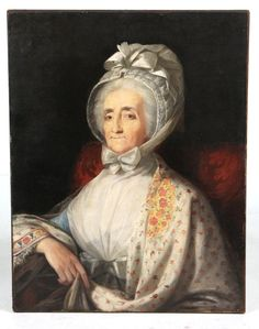 1 of 9 : Oil on Canvas, Portrait of a Woman,  Attributed to Rembrandt Peale, late 18th/19th C., N9HNH