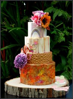 Autumn wedding cake by Jo Finlayson (Jo Takes the Cake)