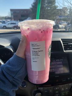 Starbucks secret menu refresher diy - food & drinks - A-Z Finance Plan (For Life) Starbucks Hacks, Bebidas Do Starbucks, Healthy Starbucks Drinks, Starbucks Secret Menu Drinks, Starbucks Refreshers, Yummy Drinks, Bomb Drinks, Smoothie Drinks, Smoothie Recipes
