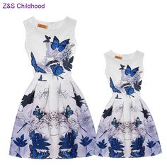 >> Click to Buy << Casual Family Matching Outfits Vintage Mother and Daughter Dresses Clothes Summer Floral Print Sleeveless Teenage Girls Clothing #Affiliate