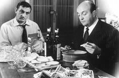 """""""Les cons ça ose tout ! C'est même à qu'on les reconnait.""""  Lino Ventura (D) et Bernard Blier (G) dans le film «Les Tontons flingueurs»"""
