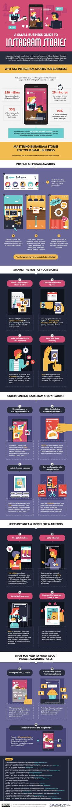 A Small Business Guide to Instagram Stories - #infographic #InphographicInfographics