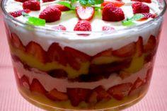 Layered Angel Food and Strawberry Dessert