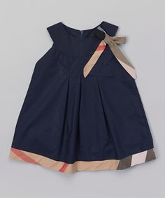 Another great find on #zulily! Navy Blue Plaid Dress - Infant, Toddler & Girls #zulilyfinds