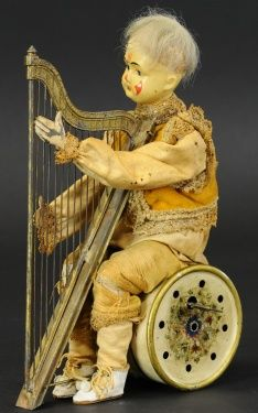 Clown automaton Clowning Around, Harp, Vintage Ads, Clowns, Toys, Characters, Activity Toys, Clearance Toys, Figurines