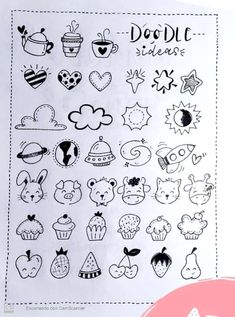 Bullet Journal Banner, Bullet Journal Mood, Bullet Journal Ideas Pages, Bullet Journal Inspiration, Cute Little Drawings, Mini Drawings, Doodle Drawings, Doodle Art For Beginners, Love Doodles