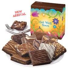 One Dozen Get Well Brownies GourmetCarePackages.biz