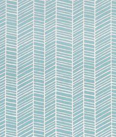 Joel Dewberry Herringbone Pond Fabric - $8.9 | onlinefabricstore.net