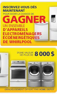 Gagnez 5 électros écoénergétiques Whirlpool. Fin le 1 novembre.  http://rienquedugratuit.ca/concours/gagnez-5-electros-whirlpool/