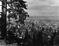 """Then and Now photos: the view of #Spokane from Cliff Drive, with a """"then"""" photo from 1908. #history"""
