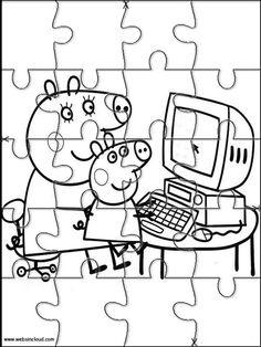 Puzzles. Quebra-cabeças para impressão para crianças Peppa Pig 6