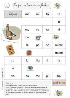 Jeux de l'oie - Combinatoire - Syllabique