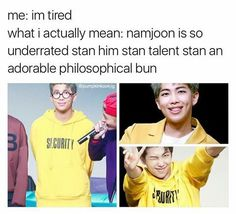 Oh my God, I love Namjoon so Much! I Tell you, I am IN LOVE with this adorable Cinnamon Roll!!!