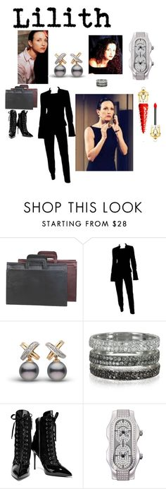 """Lilith"" by michelle858 ❤ liked on Polyvore featuring Bebe, Goodhope Bags, Tom Ford, Bernard Delettrez, Giuseppe Zanotti, Philip Stein and Christian Louboutin"
