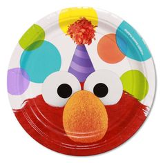 Come and Play with these bright and cheerful Sesame Street plates featuring the…