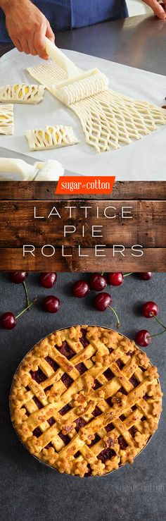 Lattice Pie Crust Rollers - The perfect Christmas gift for the baker in your life! Köstliche Desserts, Delicious Desserts, Dessert Recipes, Yummy Food, Lattice Pie Crust, Pie Crust Designs, Le Diner, Pie Dessert, Holiday Recipes