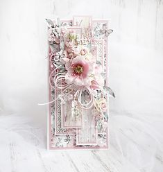 Scrapbook Cards, Scrapbooking, Mixed Media Cards, Shabby Chic Cards, Gift Envelope, Card Making Tips, Cricut Cards, Flower Tutorial, Flower Cards