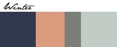 Naval Blue, Persimmon, Attitude Gray and Copen Blue