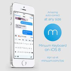 Minuum o tastatura terta pentru iOS 8 disponibila la PRET REDUS (Video)
