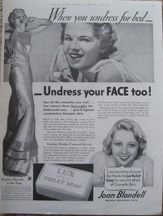 Joan Blondell Lux Soap Ad-1934