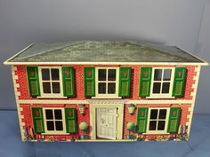 VINTAGE TINPLATE METTOY DOLLS HOUSE