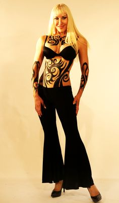 valentine body paint