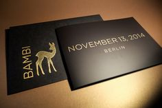 "Karte Bambi ""Save the date"""