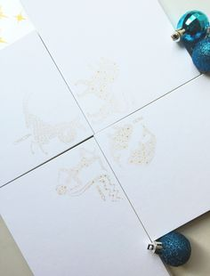 Is it written in the stars? We think so! Write it on our stylish zodiac notecards, a set for every sign!