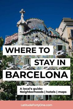 Find the best neighborhoods in #Barcelona, #Spain, that's near attractions and suits your travel needs! Here are the Best Places to Stay in Barcelona, written by a local. #europe #catalonia #Catalunya