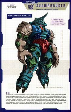 Transformers: Decepticons - Pretender Shell - Submarauder Transformers Decepticons, Transformers Characters, Transformers Optimus, Transformers Generation 1, Robot Concept Art, Classic Cartoons, Manga, Geek Stuff, Anime