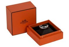 Hermes 18K White Gold Ring w/ Box