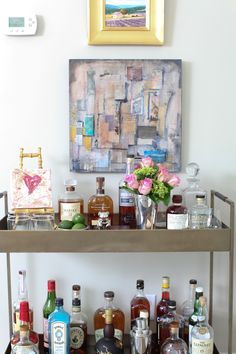 Fully stocked bar cart. Exactly what I need!