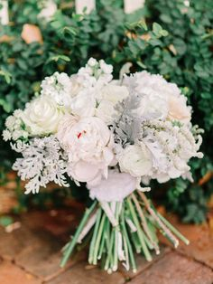 Soft and lovely bouquet: http://www.stylemepretty.com/2014/11/25/rustic-elegant-wedding-in-georgia-at-vinewood-plantation/   Photography: Amy Arrington - http://amyarrington.com/