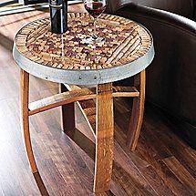 Barrel Stave Cork Kit Table