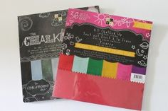 chalkboard card stock stacks from Die Cuts With a View (DCWV)