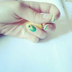 Nail art of Brasil ✨