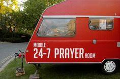 mobile prayer room - LOVE this idea!