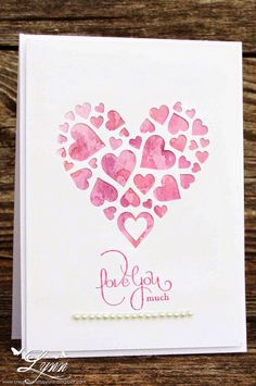 Creative Crafts by Lynn: Scrapy Heart Scrapbook Paper Crafts, Scrapbook Cards, Paper Crafting, Love Valentines, Valentine Day Cards, Love Cards, Diy Cards, Love Decorations, Heart Cards