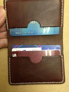 Handmade Leather 4 Pocket Card Holder/Wallet