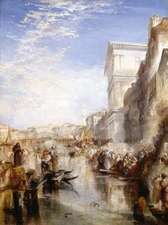 Joseph Mallord William Turner 'The Grand Canal ('Scene - a Street in Venice')', exhibited 1837 - Oil paint on canvas -  Dimensions Support: 1480 x 1105 mm -  © Courtesy of the Huntington Library, Art Collections, and Botanical Gardens, San Marino, California