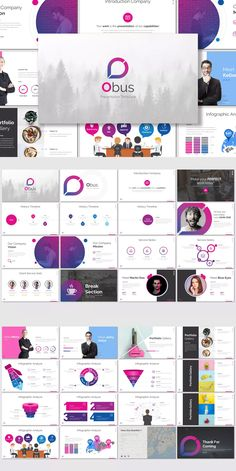 Obus - Keynote Template by inspirasign on Envato Elements Keynote Presentation, Business Presentation, Presentation Design, Presentation Slides, Web Design, Slide Design, Powerpoint Design Templates, Keynote Template, Startup