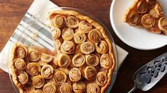 No lattice? No problem. The swirls of cinnamon, sugar and pecans make this a fun and festive alternative to a classic apple pie.