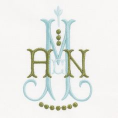 Embroidery Bracelets Ideas Delphinium Beautiful 2 color monogram from The Lovelist - Embroidery Monogram Fonts, Embroidery Alphabet, Embroidery Shop, Embroidery Patterns, Hand Embroidery, Machine Embroidery, Embroidery Needles, Applique Monogram, Butterfly Embroidery