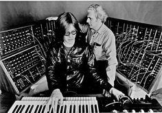 Bob Moog and Wendy Carlos (I think)
