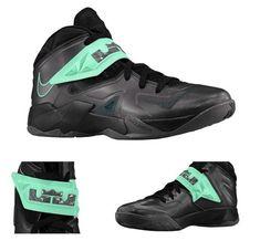 best website 127c7 d5a0b Nike Zoom LeBron Soldier 7 Black Green Glow Mint